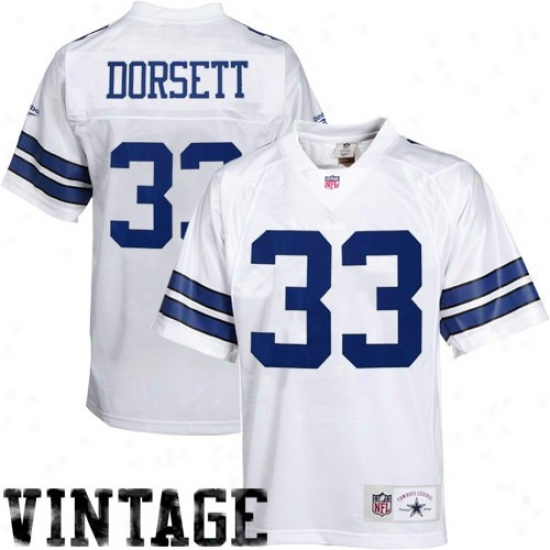Dallas Cowboy Jerseys : Reebok Tony Dorsett Dallas Cowboy Premier Legends Jerseys - White