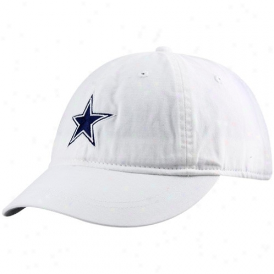 Dallas Cowboy Merchandise: Reebok Dallas Cowboy Ladies White Charleston Adjustable Cardinal's office