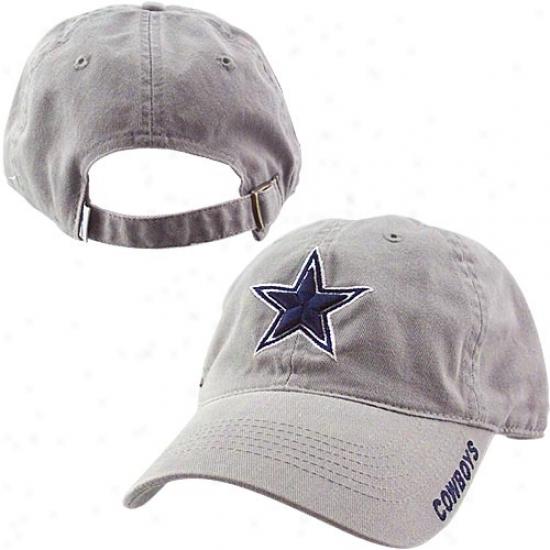 Dal1as oCwboy Merchandise: Reebok Dallas Cowboy Grey Slouch Hat