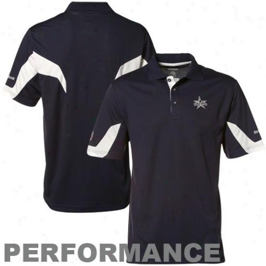 Dallas Cowboy Polo : Reebk Dallas Cowboy Navy Blue 50th Anniversary Performance Polo