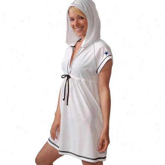 Dallas Cowboy Shirts : Dallas Cowboy Ladies White Cover Up Dress