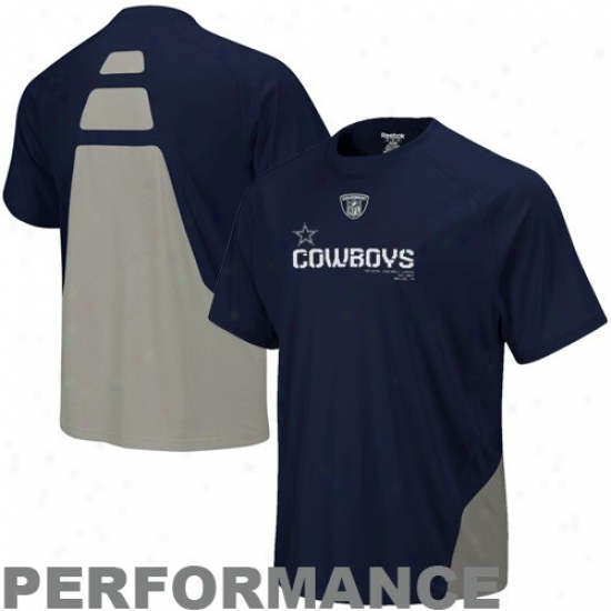 Dallas Cowboy Shirts : Reebok Dallas Cowboy Navyy Blue Conflict Sideline Performance Shirts
