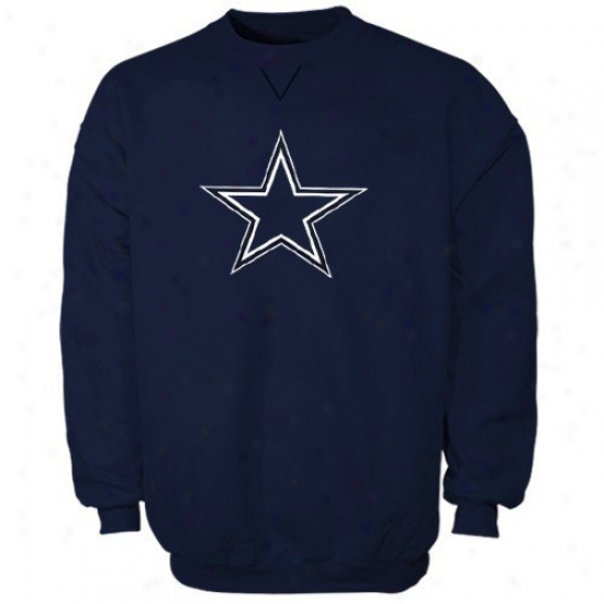 Dallas Cowboy Sweatshirts : Reebok Dallas Cowboy Navy Blue Logo Premier Sweatshirts