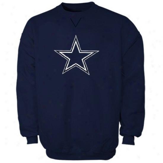 Dallas Cowboy Sweatshirts : Reebok Dallas Cowboy Navy Blue Logo Premier Sweatshirts
