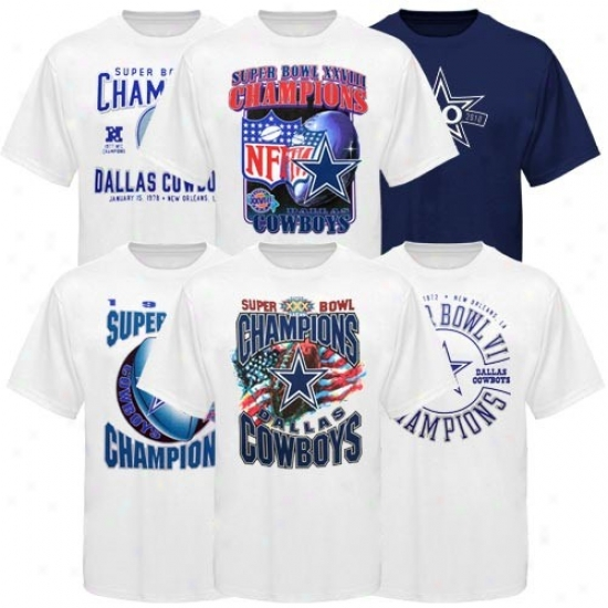 Dallas Cowboy T-shirt : Dallas Cowboy 50th Anniversary Celebration Super Bowl Locker Room T-shirt Box Set