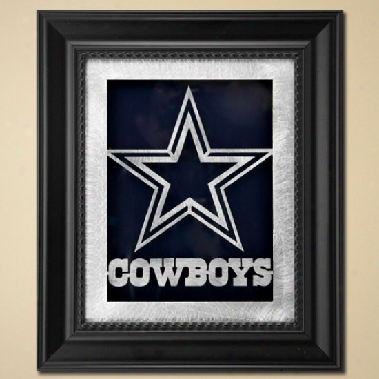 Dallas Cowboys 11'' X 13'' Framed Laser Edge Metal Artwork