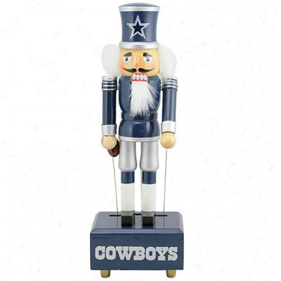 Dallas Cowboys 12-inch Wind Up Musical Nutctacker