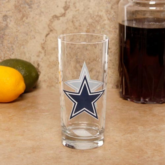 Dallas Cowboys 15oz. Satin Etched Glasd