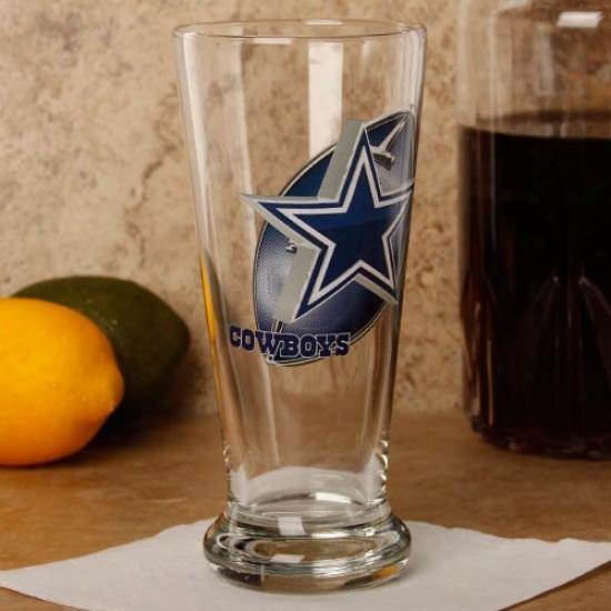 Dallas Ckwboys 16.5 Oz. Enhanced Hi-def Flared Pilsner Glass