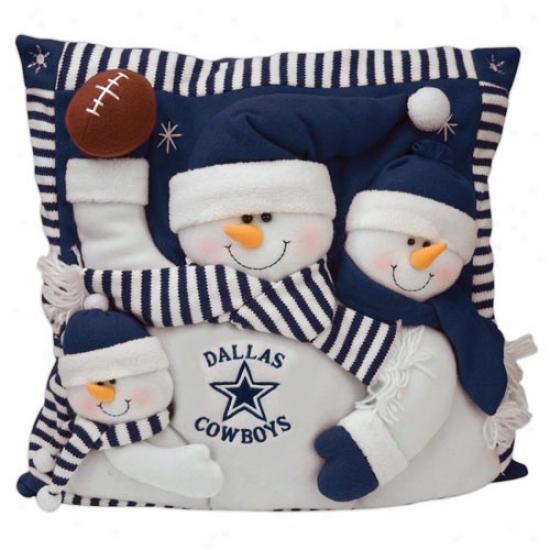 Dallas Cowboys 18-inch Snowman Household Pillow