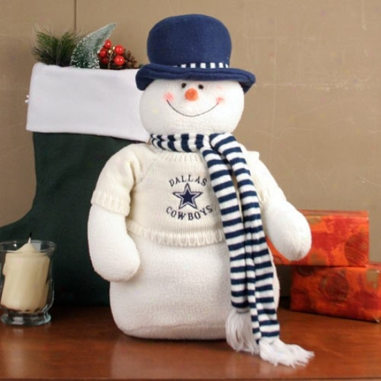 Dallas Cowboys 18'' Plush Snowman