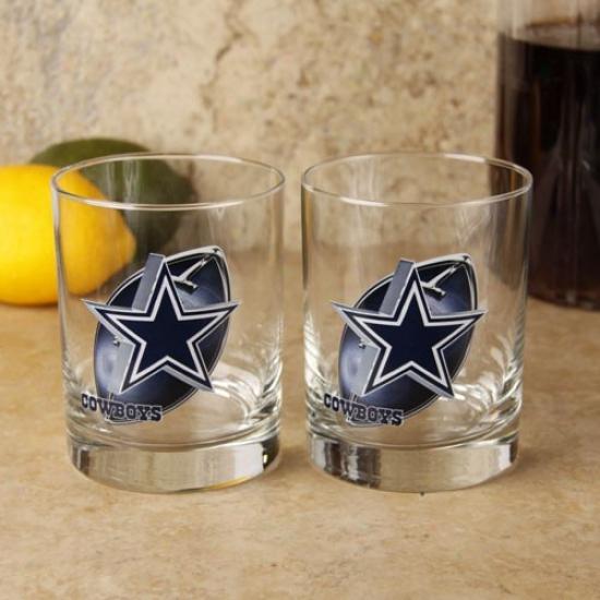 Dallas Cowboys 2-pack Enhanced High Definition Executive Glass Set