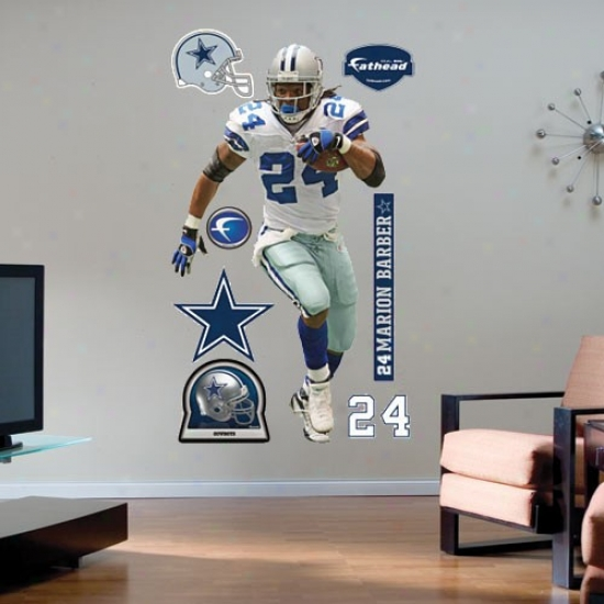 Dallas Cowbots #24 Marion Barber Player Fathead