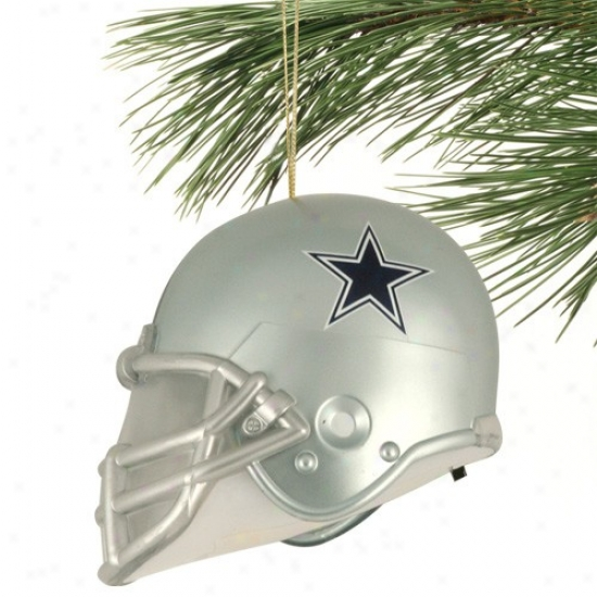 Dallas Cowboys 3'' Acrylic Light-up Football Helm Ornament