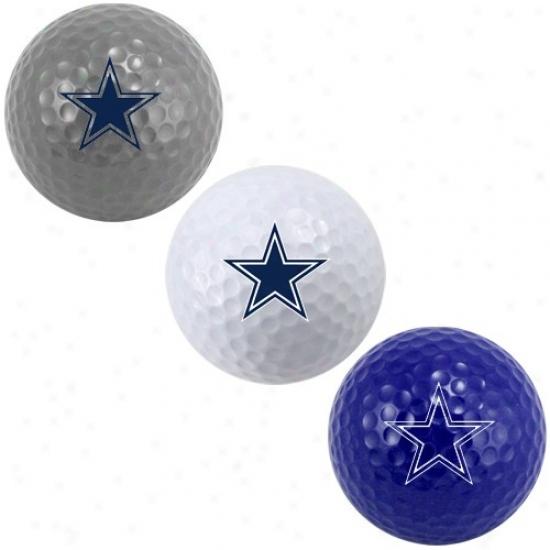 Dallas Cowboys 3-pack Team Color Golf Balls