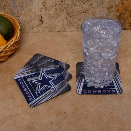 Dallas Cowboys 4-pack Sublimated Logo Neoprene Coaster Put