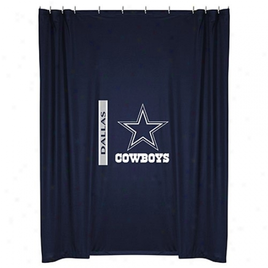 """dallas Cowboys 72""""x7Z"""" Shower Curtain"""