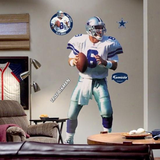 Daallas Cowboys #8 Troy Aikman Player Fathead