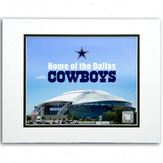 Dallas Cowboys 8'' X 10'' Cowboys Stadium ''home Of The Dallas Cowboys 1'' Matted Photograph