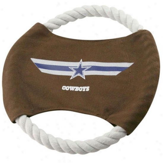 Dallas Cowboys 9'' Flying Rope Football Disk Dog Toy