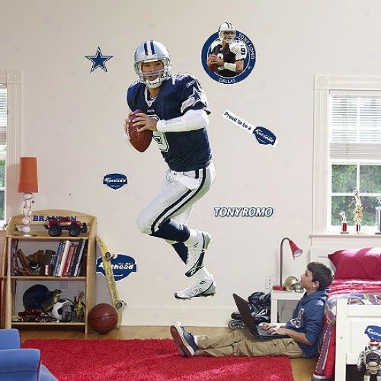Dallas Cowboys #9 Tony Romo Player Fathead