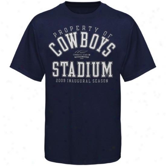 Dallas Cowboys Apparel: Dallas Cowboys Navy Blue 2009 Inaugural Property T-shirt