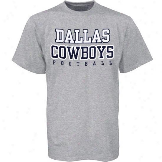 Dallas Coqboys Apparel: Reebok Dallas Cowboys Ash Practice T-shirt