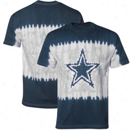 Dallas Cowboys Attire: Dallas Cowboys Navy Blue-silver Star Tie-dye T-shirt