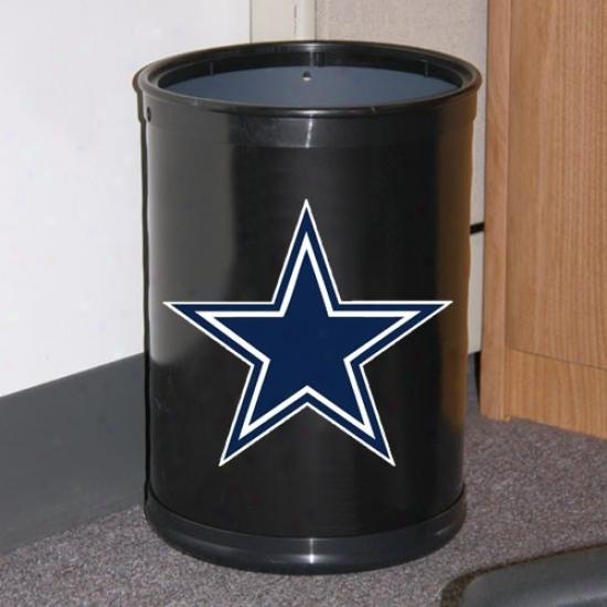 Dallas Cowboys Black Team Wastebasket