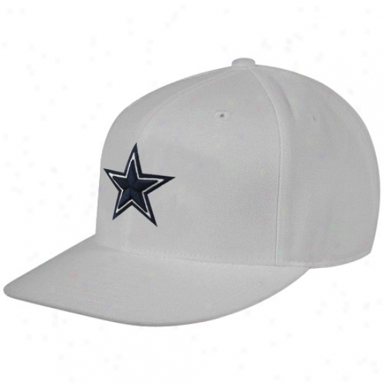 Dallas Cowboys Cap : Reebok Dallas Cowboys Gray Sideline Flat Bill Fitted Cap