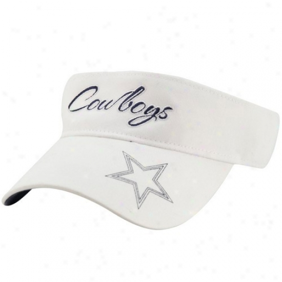Dallas Cowboys Caps : Reebok Dallas Cowboys Ladies Happy Ponte Vedra Adjustable Visor