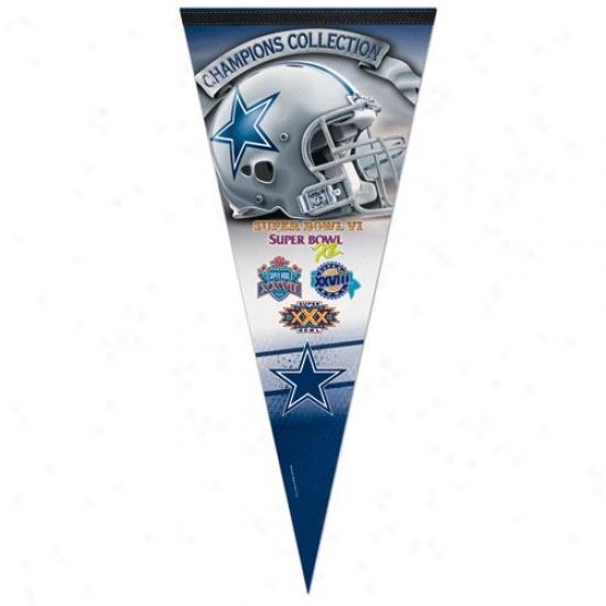 Dallas Cowboys Champions Collection 17'' X 40'' Vertical Premium Felt Pennant