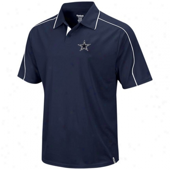 Dallas Cowboys Clothes: Reebok Dallas Cowboys Navy Blue Active Polo