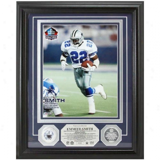 Dallas Cowboys Emmitt Smith 2010 Hall Of Fame Induction Photomint