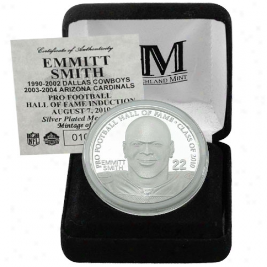 Dallas Cowboys Emmitt Smith Commemorative Hall Of Fame Medallion