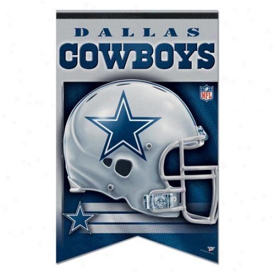 Dallas Cowboys Flags : Dallaa Cowboys 17'' X 26'' Premium Quality Felt Flags