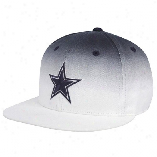 Dallas Cowboys Gear: Reebok Dallas Cowboys White Buenos Aires Vapid Bill Fitted Hat