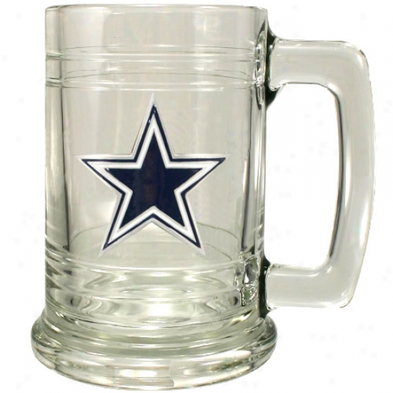 Dallas Cowboys Glass Tankard
