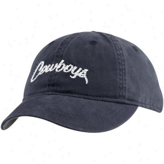 Dallas Cowboys Hat : Reebok Dallas Cowboys Ladies Navy Blue Calendar Girl Adjustable Hat