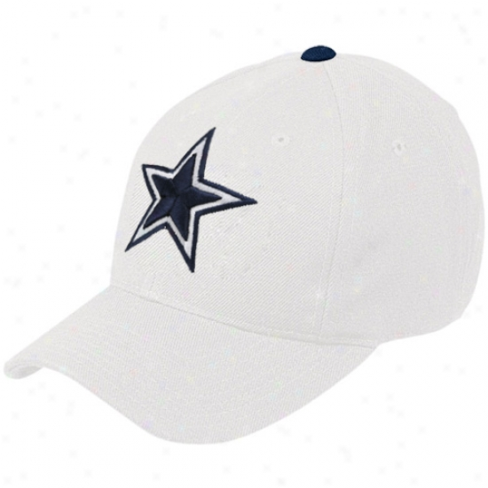 Dallas Cowboys Hat : Reebok Dallas Cowboys White Basic Logo Wool Hat