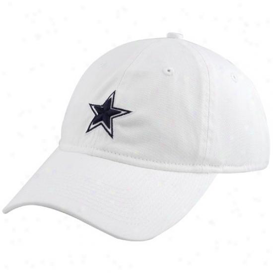 Dallas Cowboys Hat : Reebok Dallas Cowboys White Ladies Slouch Fit Hat