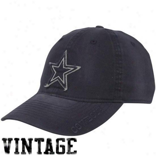 Dallas Cowboys Hats : Reebok Dallas Cowboys Navy Azure Karachi Slouched Flex Fit Hats