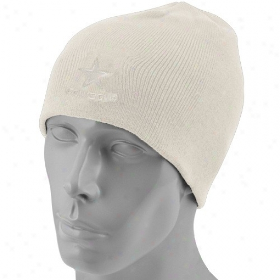 Dallas Cowboys Hats : Reebok Dallas Cowboys White Tonal Knit Beahie