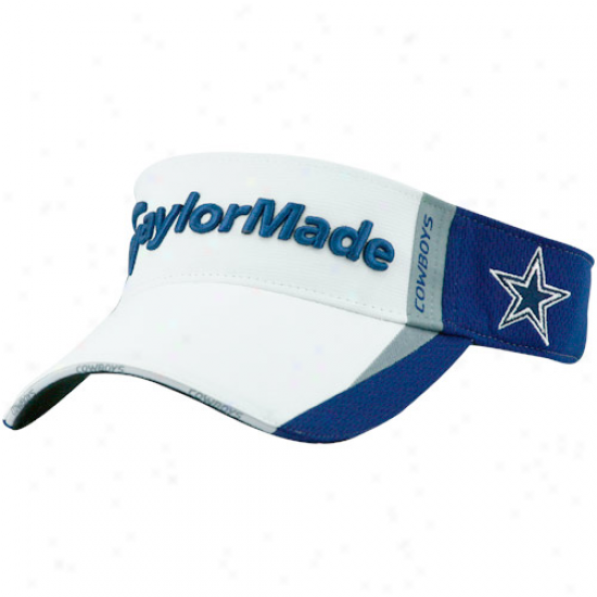 Dallas Cowboys Hats : Taylormade Dallas Cowboys Navy Blue-white Adjustable Visor