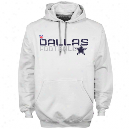 Dallas Cowboys Hoodies : Reebok Dallas Cwboys White Sideline Tacon Hoodies Pullover Hoodies