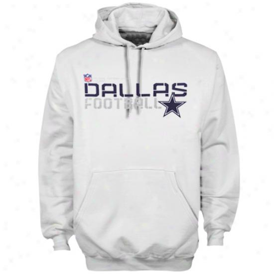 Dallas Cowboys Hoodies : Reebok Dallas Cwboys White Sideline Tacon Hoodies Pullover Hoodies
