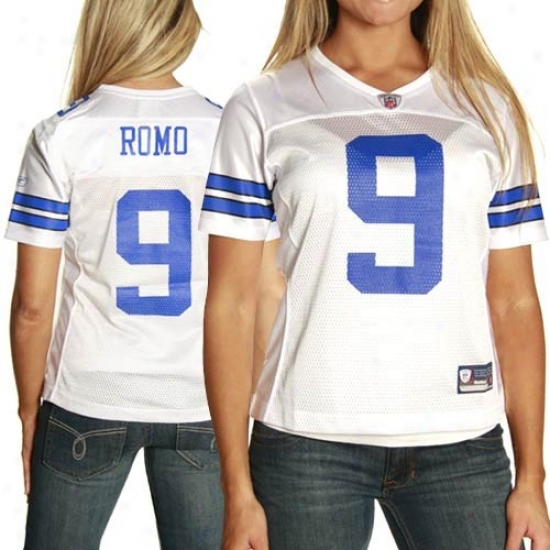 Dallas Cowboys Jersey : Reebok Dallas Cowboys #9 Tony Romo Ladies White Replica Football Jersey