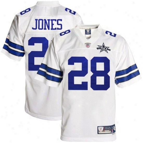 Dallas Cowboys Jersey : Reebok Felix Jones Dallas Cowboys 50th Anniversary Premier Tackle Twill Jersey - White