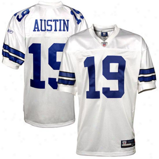 Dallas Cowboys Jersey : Reebok Miles Austin Dallas Cowboys Authentic Jersey - White