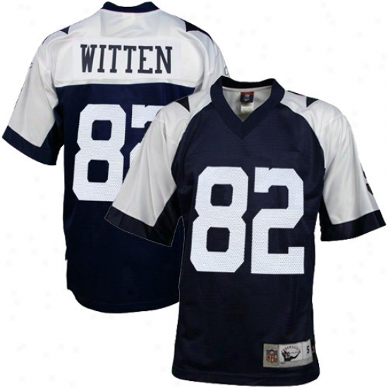 Dallas Cowboys Jersey : Reebok Nfl Equipment Dallas Cowboys #82 Jason Witten Navy Blue Thanksgiving Day Replica Football Jersey